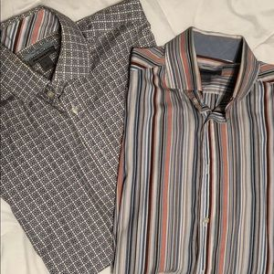 Men's Johnston & Murphy Dress Shirt Pair - Size L